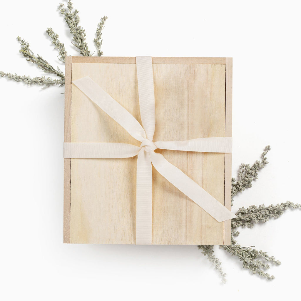 wooden gift box ivory