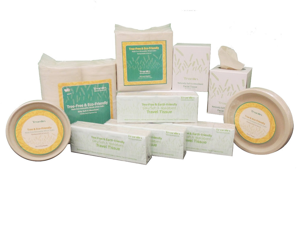 Tranlin Eco-Friendly Tissue & Tableware Sampler Kit (Large)