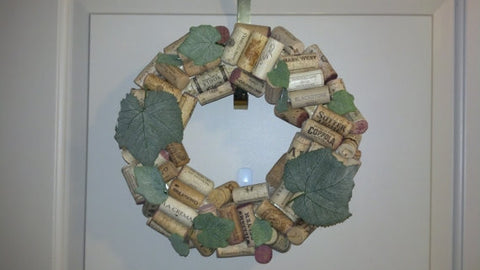 Wine Cork Wreath - LadybugJellybean - 1