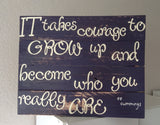 EE Cummings Quote Sign - LadybugJellybean - 3