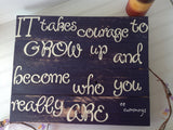 EE Cummings Quote Sign - LadybugJellybean - 1