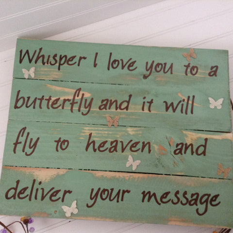 Whisper I Love you to a Butterfly sign - LadybugJellybean - 1