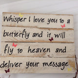 Whisper I Love you to a Butterfly sign - LadybugJellybean - 10