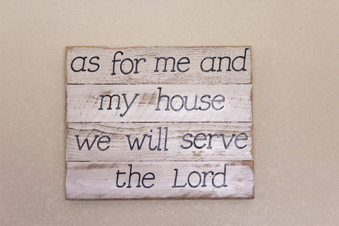 As for Me and My House Handmade Sign - LadybugJellybean - 1