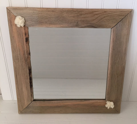 Square Mirrors framed in Blue Pine - LadybugJellybean - 1