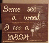 Dandelion sign made with reclaimed wood - LadybugJellybean - 2