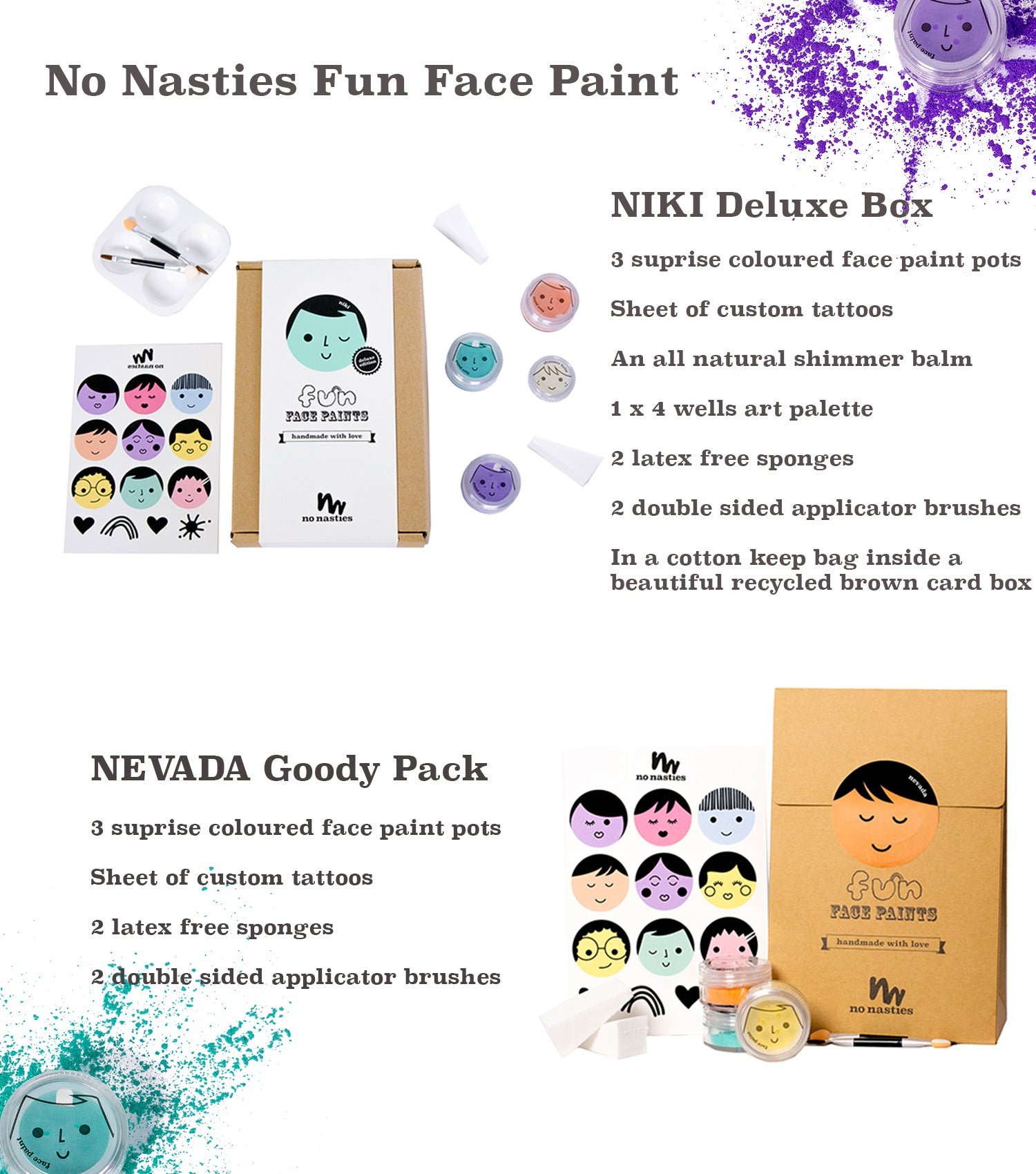 Fun Face Paint at www.nonastiesmakeup.com.au