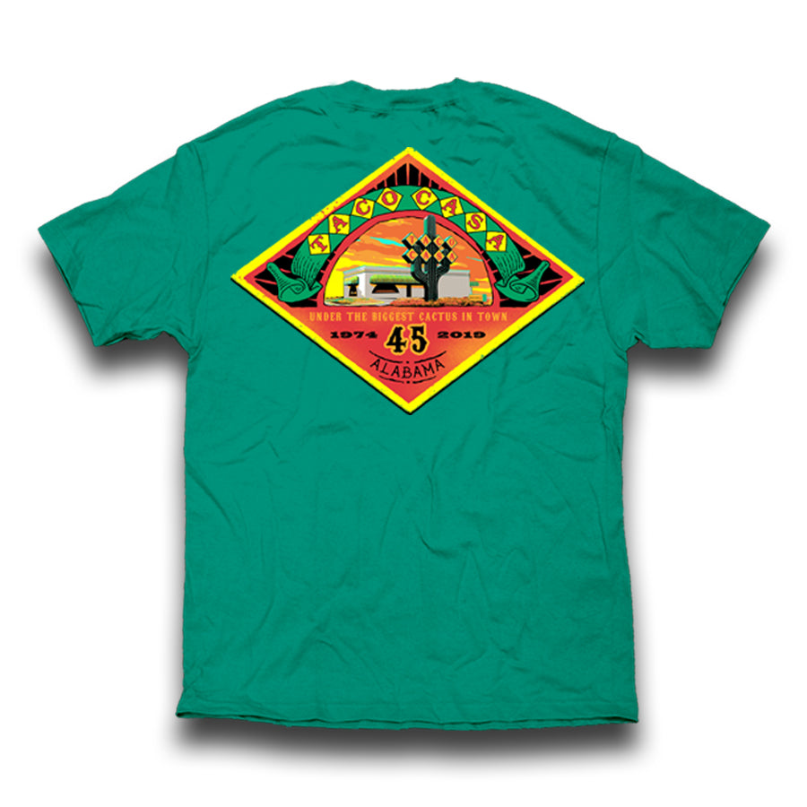 Taco Casa 45th Anniversary T-shirt - Island Green