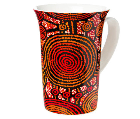 Aboriginal art fine china mug
