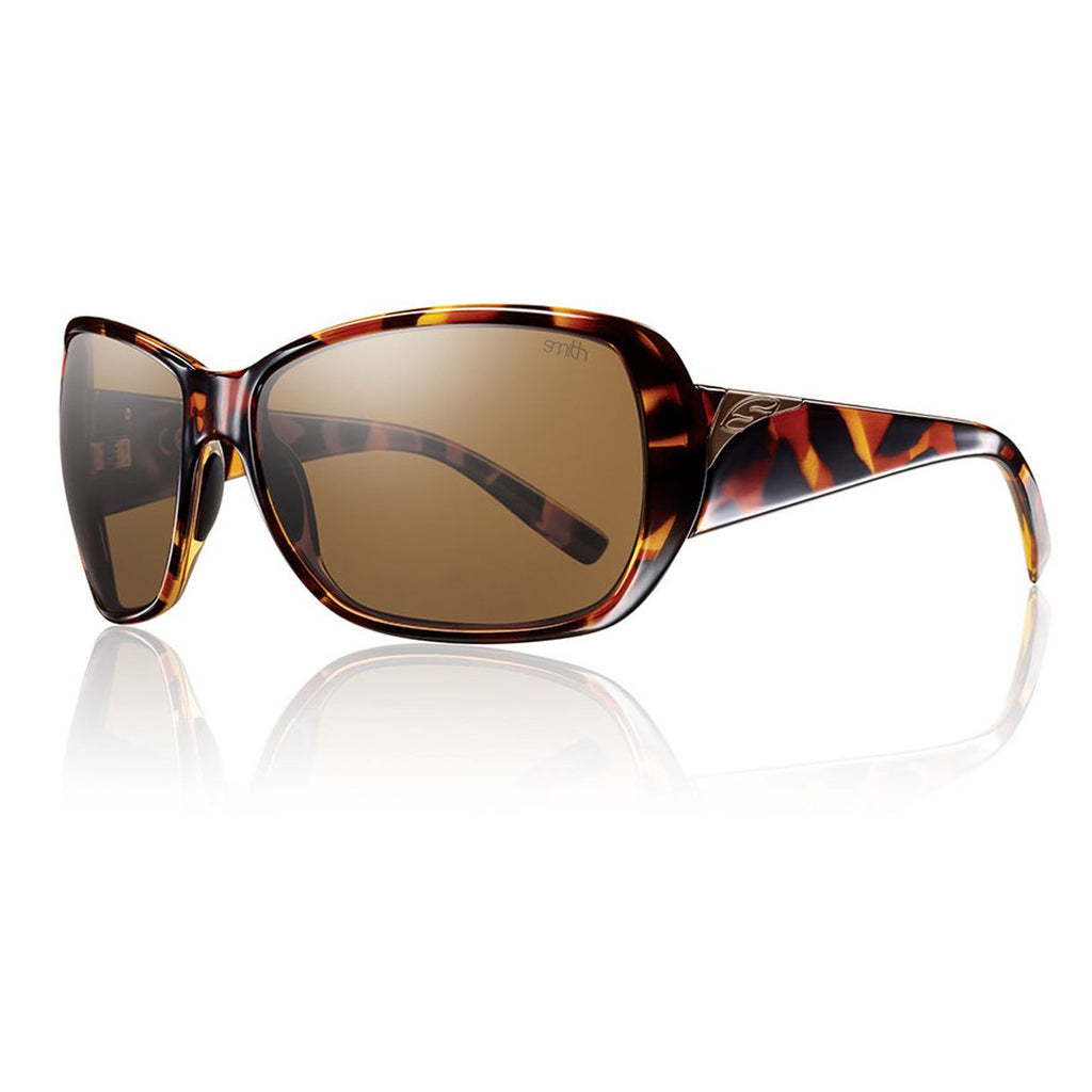 Smith Optics Hemline Sunglasses Polarized- Women's /Vintage Tortoise/Polarized Brown