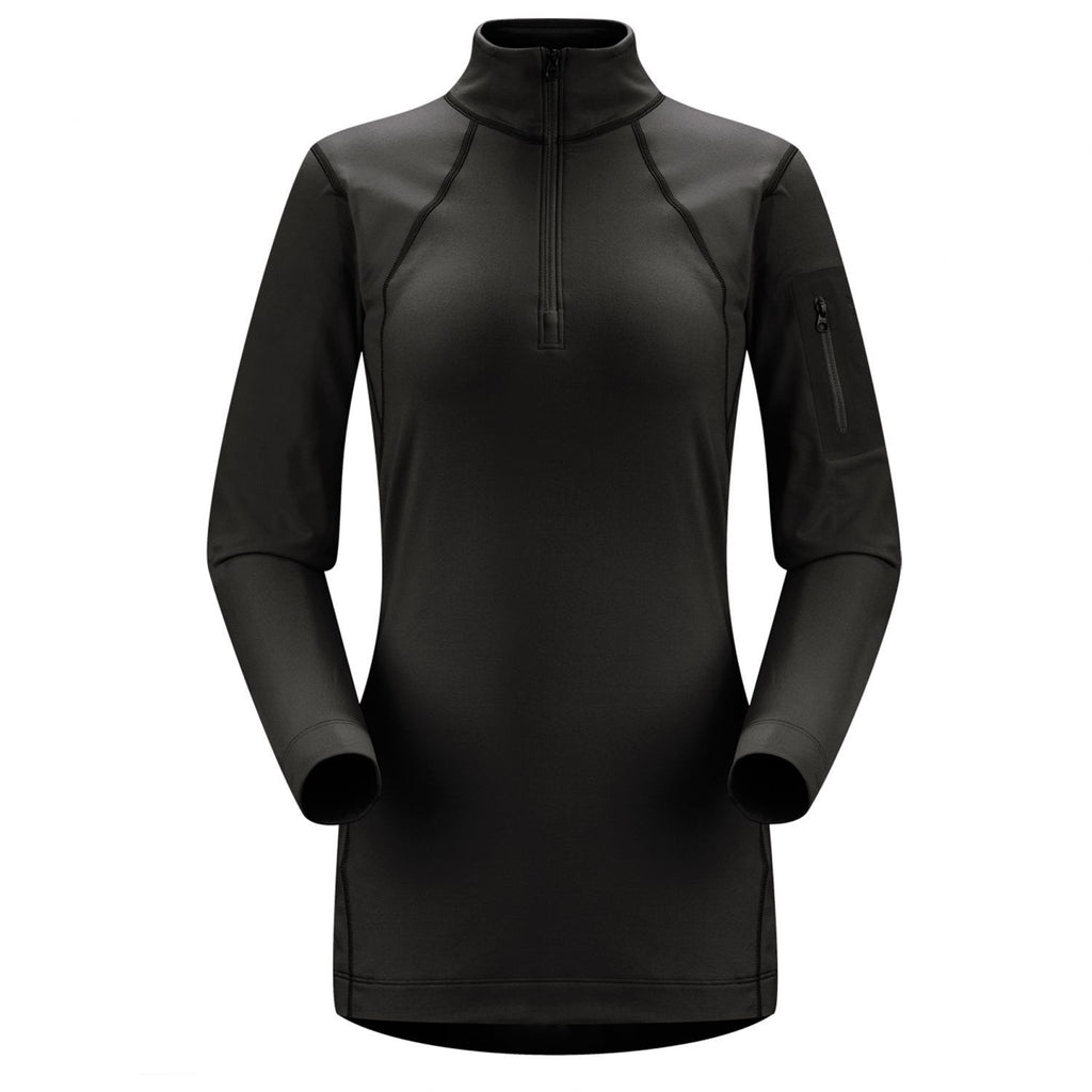 Arc'teryx Rho LT Zip Neck - Women's /Black/