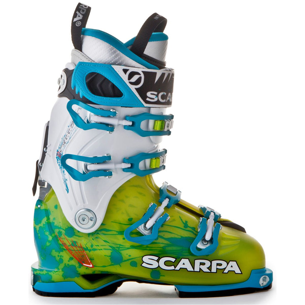 Scarpa Freedom SL Alpine Touring Boot - Women's /Lime/Turquoise/