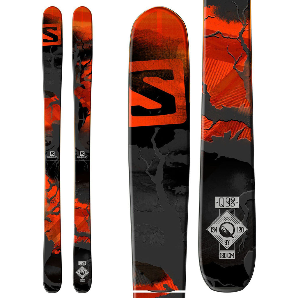 Salomon Q-98 Skis 2015 /Red/Black/