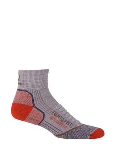 FARM TO FEET Damascus 1/4 Crew Elite Lightweight Hiker Sock