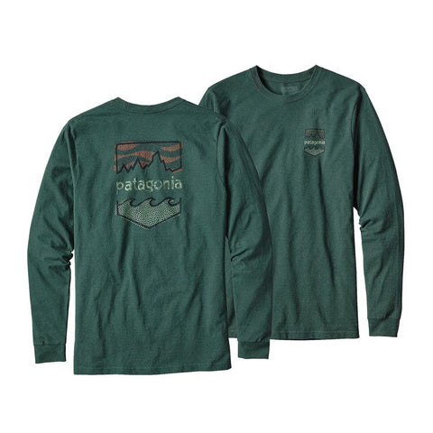 PATAGONIA Long-Sleeved Patagonia Badge Cotton/Poly Responsibili-Tee™ - Men's