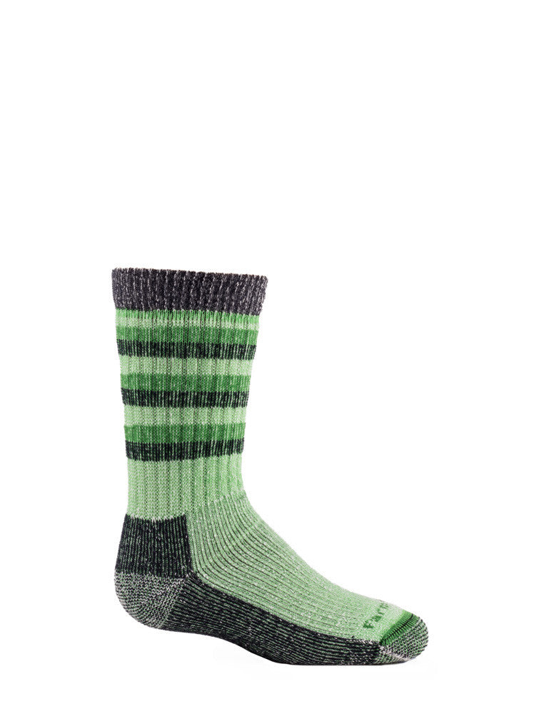 FARM TO FEET Kittery 2 Stripe Kids Midweight Hiker Sock