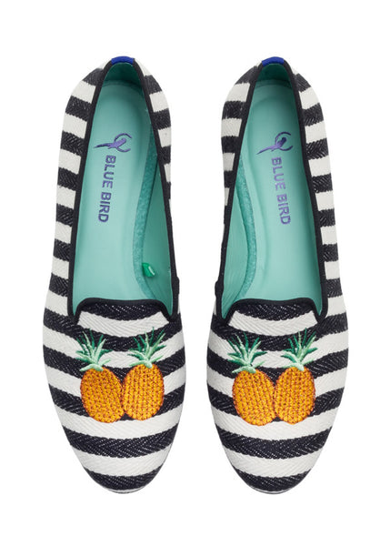 Blue Bird Loafer Striped Pineapple