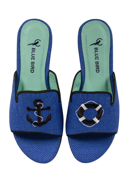 Blue Bird Slide Slippers