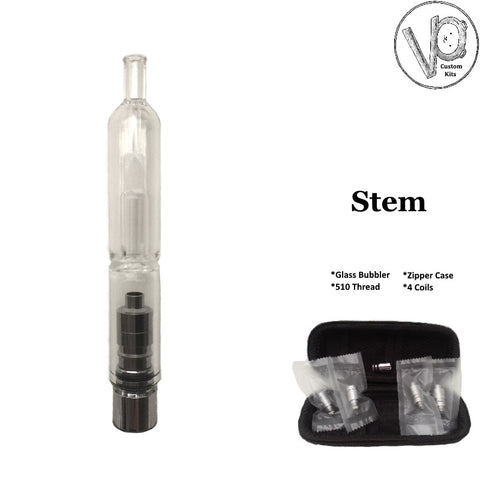Stem Custom Glass Bubbler Atomizer Kit