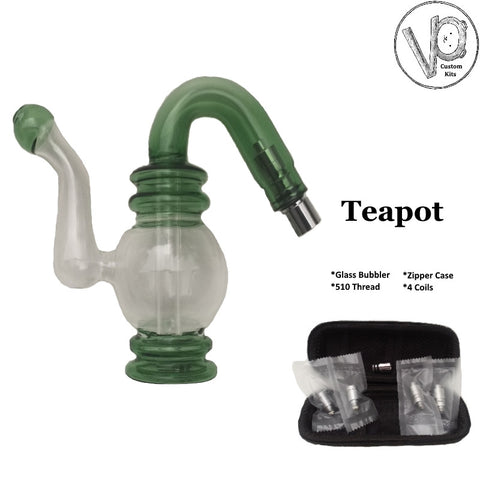 Teapot Custom Glass Bubbler Atomizer Kit
