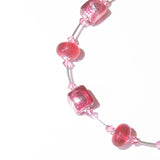 Murano Glass Pink Cube Sterling Silver Necklace JKC Murano
