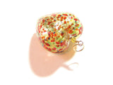 Murano Glass Gold Colorful Heart Pendant JKC Murano