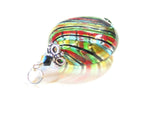 Murano Glass Colorful Blown Glass Disc Pendant JKC Murano