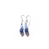 Murano Glass Cobalt Blue Cube Sterling Silver Earrings Murano Glass Cobalt Blue Cube Sterling Silver Earrings JKC Murano