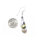Murano Glass Black Gold Teardrop Sterling Silver Earrings - JKC Murano