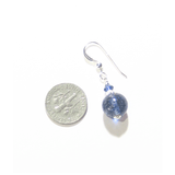 Genuine Murano Glass Navy Blue Sterling Silver Earrings, Clip ons - JKC Murano