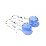 Murano Glass Blue Millefiori Coin Silver Earrings - JKC Murano - 3