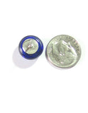 Murano Glass Cobalt Blue Sterling Silver Stud Earrings JKC Murano