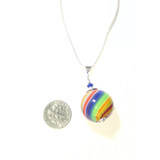 Murano Blown Colorful Ball Pendant - JKC Murano