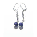 Murano Italian Glass Plum Purple Sterling Silver Earrings JKC Murano