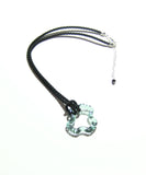 Murano Glass Grey Ring Puzzle Pendant Necklace, Venetian Glass Jewelry - JKC Murano