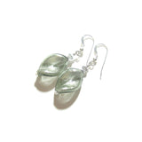 Murano Glass Grey Twist Sterling Silver Earrings JKC Murano