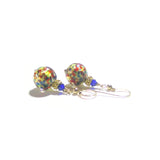 Murano Glass Colorful Ball Gold Earrings JKC Murano