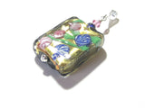 Murano Glass Colorful Millefiori Black Pendant JKC Murano