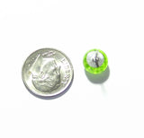 Millefiori Lime Green Sterling Silver Post Earrings, Stud Earrings - JKC Murano