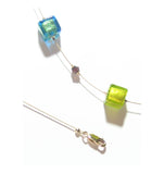 Murano Glass Colorful Cube Gold Necklace by JKC Murano - JKC Murano
