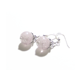 Murano Glass Pale Purple Ball Sterling Silver Earrings - JKC Murano