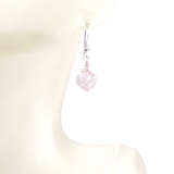 Murano Glass Pale Pink Ball Sterling Silver Earrings - JKC Murano