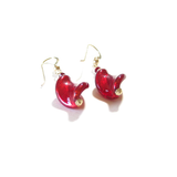Murano Glass Red Twist Gold Earrings By JKC Murano - JKC Murano