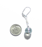 Murano Glass Grey Dichroic Ball Sterling Silver Earrings - JKC Murano - 3