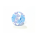 Murano Glass Aqua White Large Millefiori Ring - JKC Murano