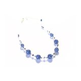 Murano Glass Dark Blue Ball Sterling Silver Necklace - JKC Murano