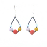 Murano Glass Colorful Sterling Silver Earrings, Hoop Earrings - JKC Murano