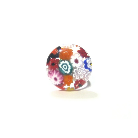 Murano Glass Colorful Large Millefiori Ring - JKC Murano