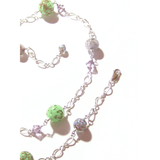 Murano Glass Colorful Pastel Beaded Sterling Silver Necklace - JKC Murano
