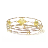 Murano Glass Gold Bangle Bracelet - JKC Murano